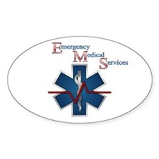 EMS Life Line Oval Decal