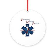 EMS Life Line Ornament (Round)