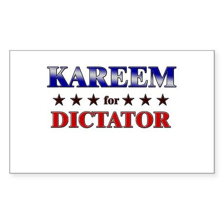 KAREEM for dictator Rectangle Sticker