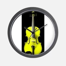 YellowViolin.jpg Wall Clock