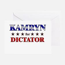 KAMRYN for dictator Greeting Card