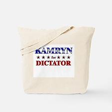 KAMRYN for dictator Tote Bag