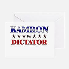 KAMRON for dictator Greeting Card