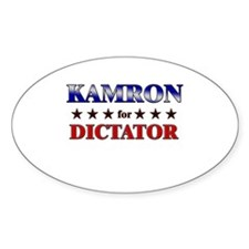 KAMRON for dictator Oval Decal