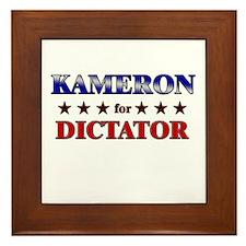 KAMERON for dictator Framed Tile