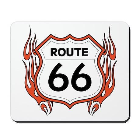 Route 66 - Flames Mousepad