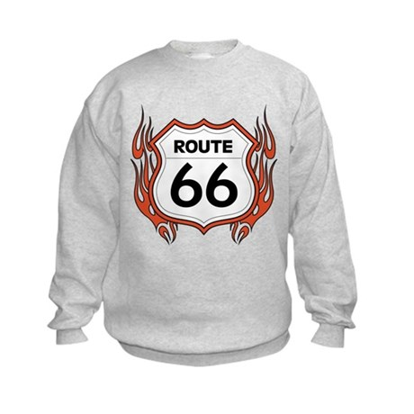 Route 66 - Flames Kids Sweatshirt