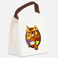 Funny Alaska moose Canvas Lunch Bag