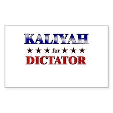 KALIYAH for dictator Rectangle Decal