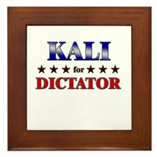 KALI for dictator Framed Tile