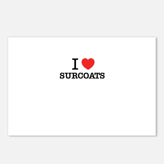 I Love SURCOATS Postcards (Package of 8)