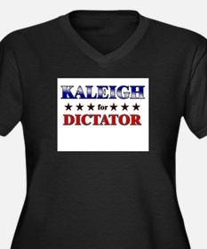 KALEIGH for dictator Women's Plus Size V-Neck Dark