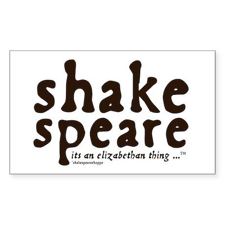 Shakespeare Sticker (Rectangle)