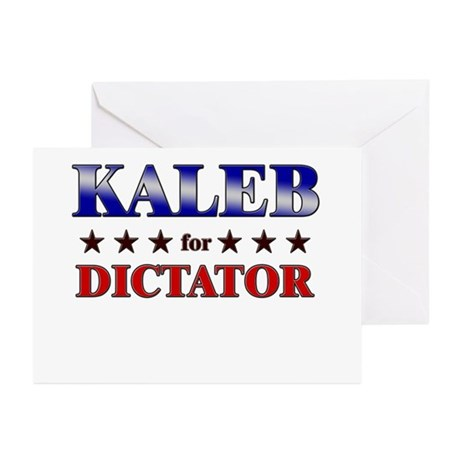 KALEB for dictator Greeting Cards (Pk of 20)