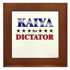 KAIYA for dictator Framed Tile