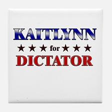 KAITLYNN for dictator Tile Coaster