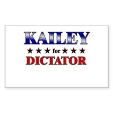 KAILEY for dictator Rectangle Decal
