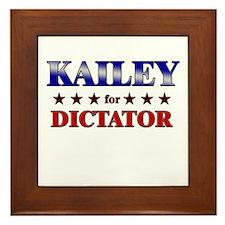 KAILEY for dictator Framed Tile