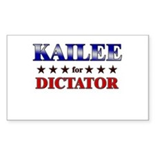 KAILEE for dictator Rectangle Decal