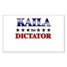 KAILA for dictator Rectangle Decal