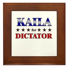 KAILA for dictator Framed Tile