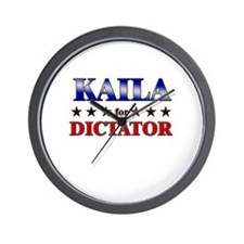 KAILA for dictator Wall Clock