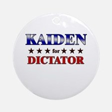 KAIDEN for dictator Ornament (Round)
