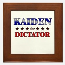 KAIDEN for dictator Framed Tile