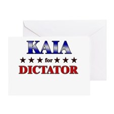 KAIA for dictator Greeting Card