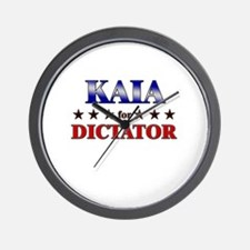 KAIA for dictator Wall Clock
