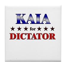 KAIA for dictator Tile Coaster