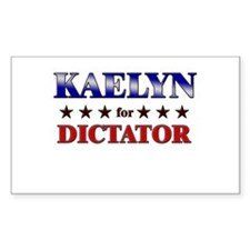 KAELYN for dictator Rectangle Decal
