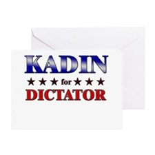 KADIN for dictator Greeting Card