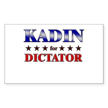 KADIN for dictator Rectangle Sticker
