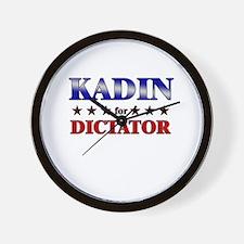 KADIN for dictator Wall Clock