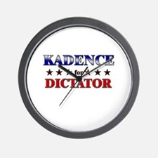 KADENCE for dictator Wall Clock