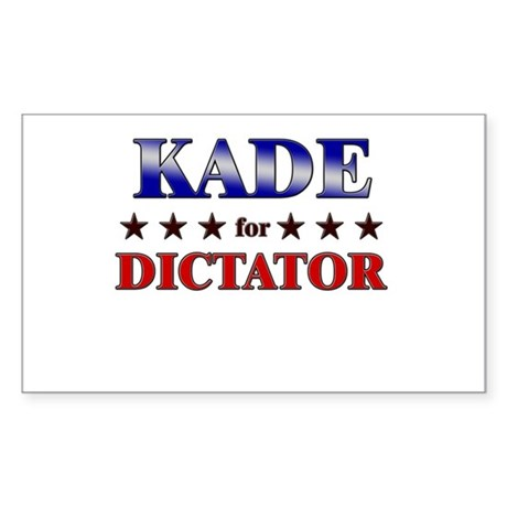 KADE for dictator Rectangle Sticker