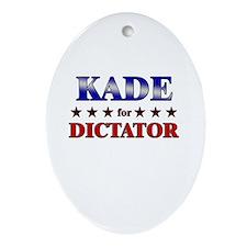KADE for dictator Oval Ornament