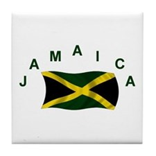 Jamaican Flag Tile Coaster