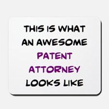 awesome patent attorney Mousepad