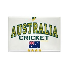 AUS Australia Cricket Rectangle Magnet