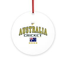AUS Australia Cricket Ornament (Round)