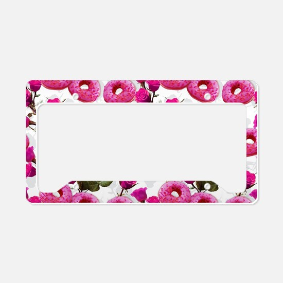 Cute Donut License Plate Holder