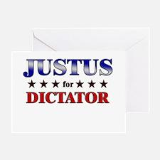 JUSTUS for dictator Greeting Card