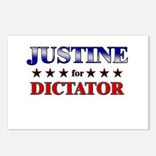 JUSTINE for dictator Postcards (Package of 8)