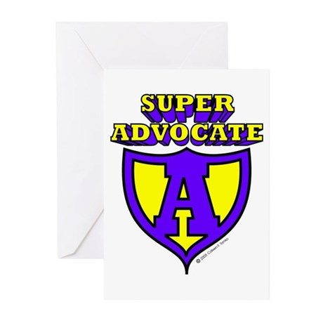 Super Advocate Logo Greeting Cards (Pk of 10)