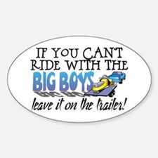 Leave It On The Trailer! Oval Bumper Stickers