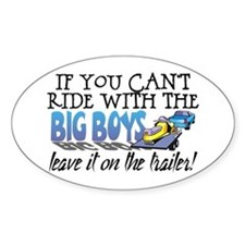 Leave It On The Trailer! Oval Decal