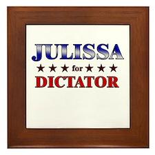 JULISSA for dictator Framed Tile