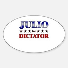 JULIO for dictator Oval Decal